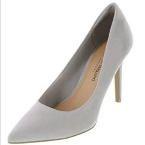 Christian Siriano Habit gray heels pointed size 8